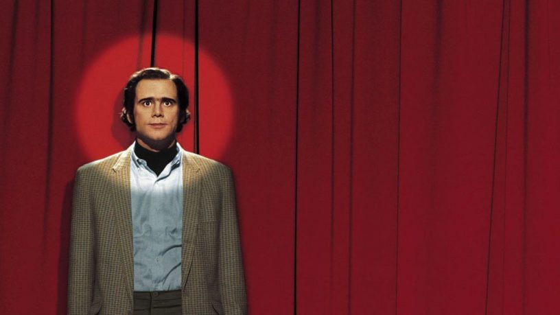 Jim Carrey como Andy Kaufman no filme O Mundo de Andy